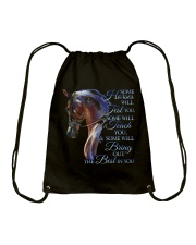 Some Horses Will Test You Drawstring Bag thumbnail