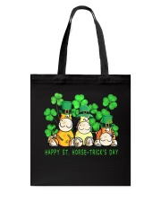 Happy St Horse Trick's Day Tote Bag thumbnail