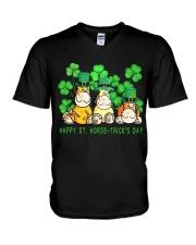 Happy St Horse Trick's Day V-Neck T-Shirt thumbnail