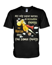 My Horse Does Incredible Things V-Neck T-Shirt thumbnail