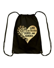 Dogs And Horses Drawstring Bag tile