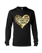 Dogs And Horses Long Sleeve Tee thumbnail