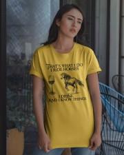 I Ride Horses Classic T-Shirt apparel-classic-tshirt-lifestyle-08