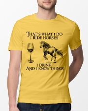 I Ride Horses Classic T-Shirt lifestyle-mens-crewneck-front-13