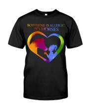 Boyfriend Is Allergic Classic T-Shirt front