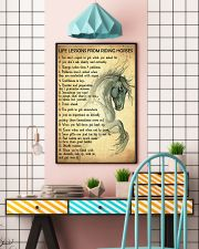 Life Lessons From Riding Horses 11x17 Poster lifestyle-poster-6