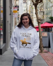 I Got Horses In The Back Hooded Sweatshirt lifestyle-unisex-hoodie-front-2