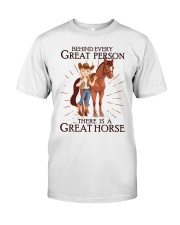 Behind Every Great Person Classic T-Shirt front