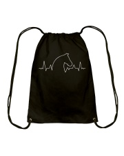 Heart Beat Horse Drawstring Bag thumbnail