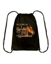 You Will Be Remembered Drawstring Bag thumbnail