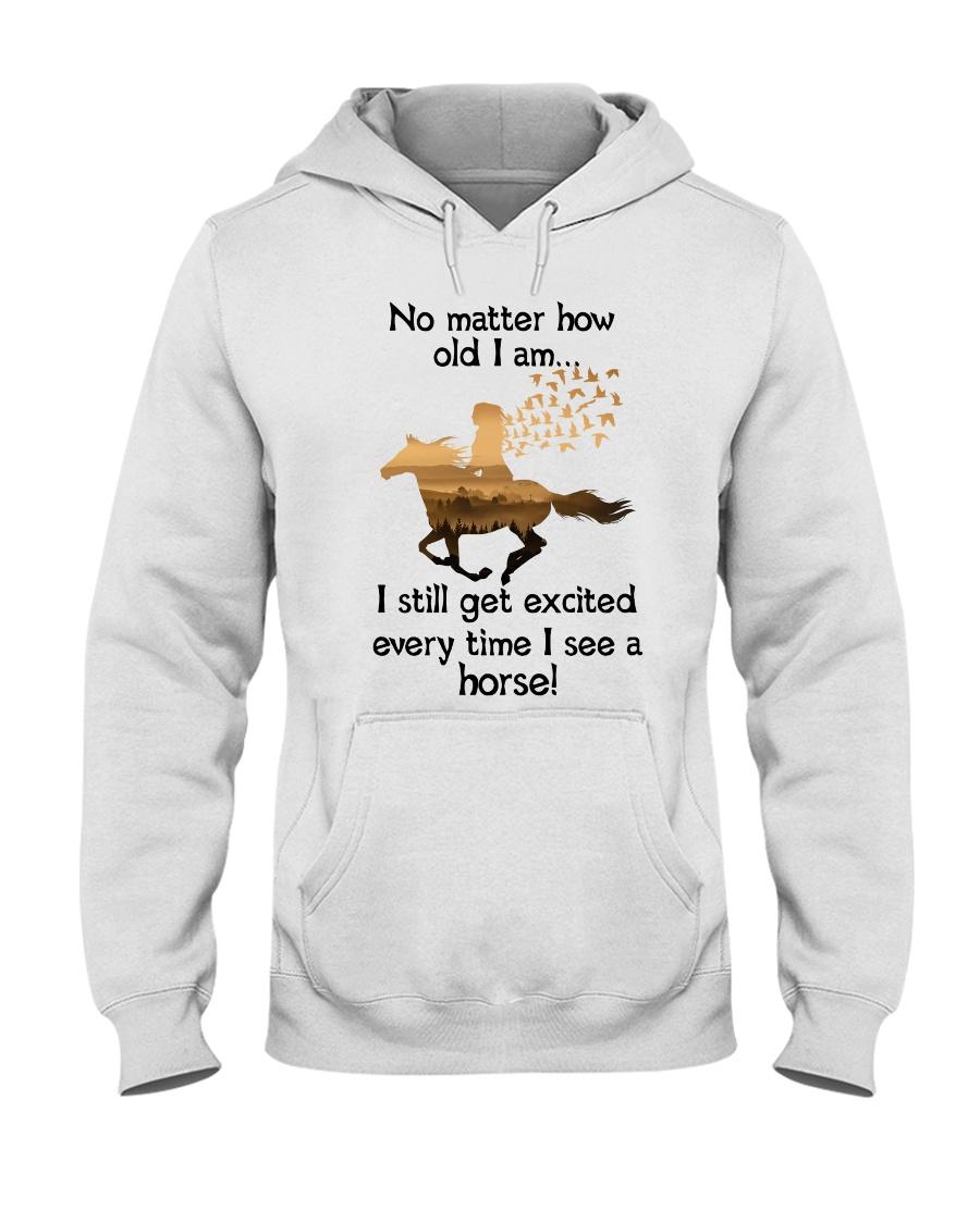 I Saw A Horse Hooded Sweatshirt