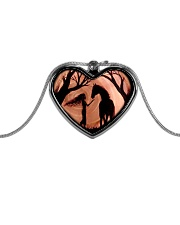 A Girl And A Horse Metallic Heart Necklace front