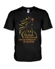 The Sound Of Hoofbeats V-Neck T-Shirt thumbnail