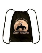 She Lived Happily Drawstring Bag thumbnail