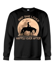 She Lived Happily Crewneck Sweatshirt thumbnail