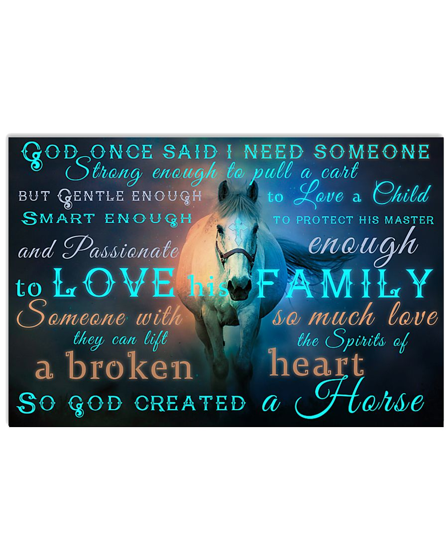 God Created A Horse 17x11 Poster