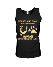 Horses And Dogs Make Me Happy Unisex Tank thumbnail