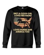 She Is A Good Girl Crewneck Sweatshirt thumbnail