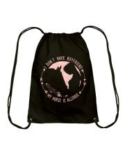 My Horse Was Allergic Drawstring Bag thumbnail