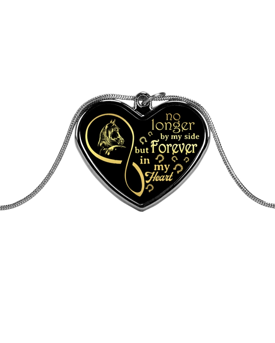 Forever In My Heart Metallic Heart Necklace