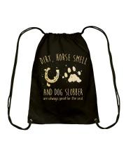 Dirt Horse Smell Drawstring Bag thumbnail
