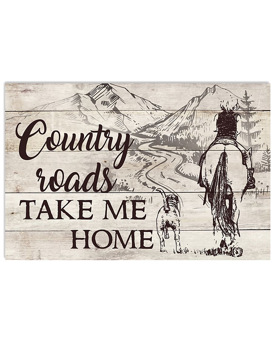 Country Roads 17x11 Poster