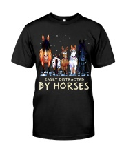 Easily Distracted By Horses Premium Fit Mens Tee thumbnail