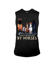 Easily Distracted By Horses Sleeveless Tee thumbnail