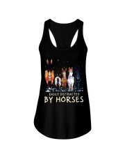 Easily Distracted By Horses Ladies Flowy Tank thumbnail