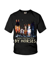 Easily Distracted By Horses Youth T-Shirt thumbnail