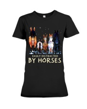 Easily Distracted By Horses Premium Fit Ladies Tee thumbnail