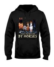 Easily Distracted By Horses Hooded Sweatshirt thumbnail