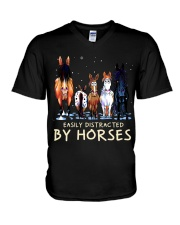 Easily Distracted By Horses V-Neck T-Shirt thumbnail