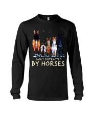 Easily Distracted By Horses Long Sleeve Tee thumbnail