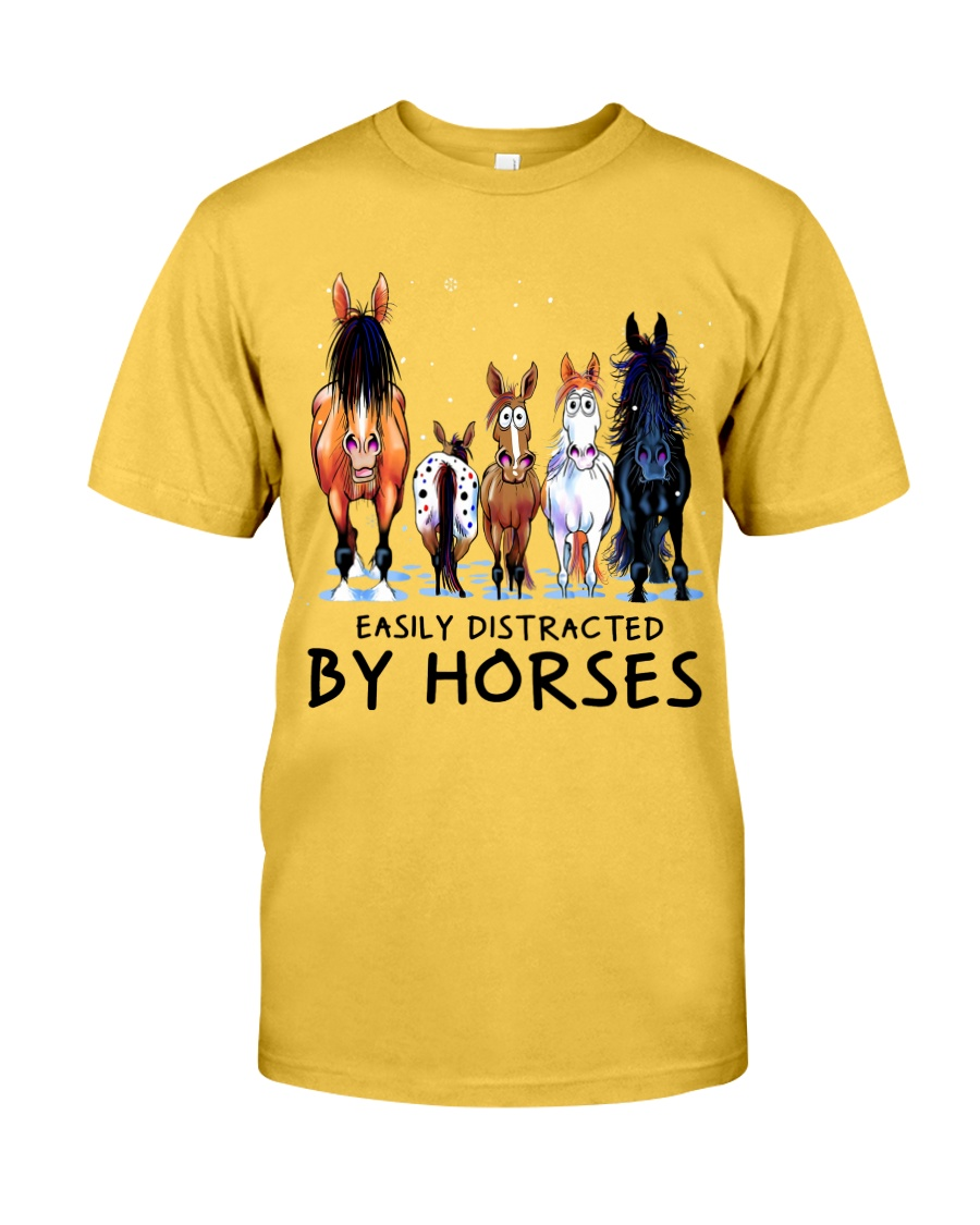 Easily Distracted By Horses Classic T-Shirt