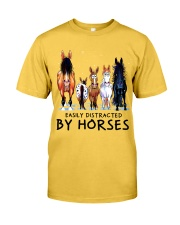 Easily Distracted By Horses Classic T-Shirt front