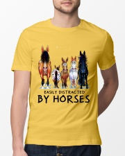 Easily Distracted By Horses Classic T-Shirt lifestyle-mens-crewneck-front-13