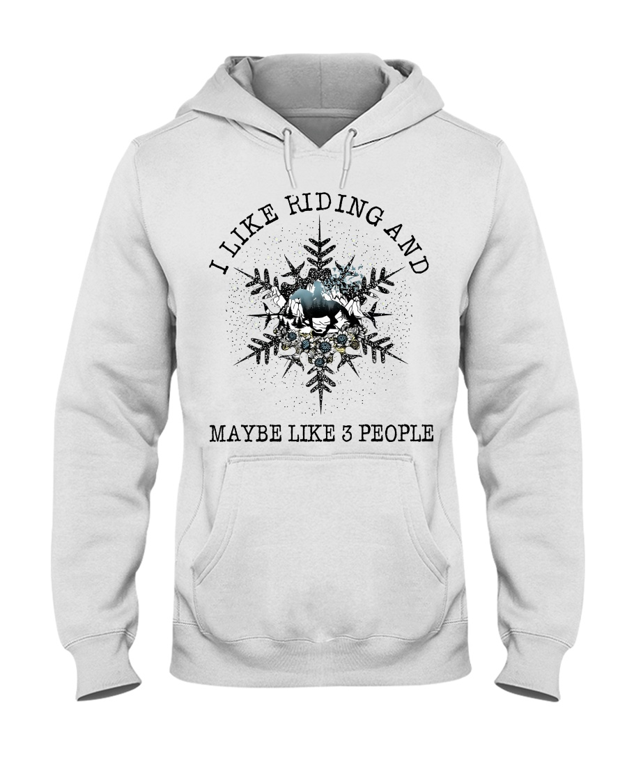 I Like Riding Hooded Sweatshirt