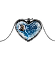 Forever In My Heart Metallic Heart Necklace front