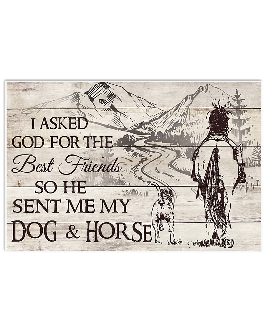 My Dog And Horse 17x11 Poster