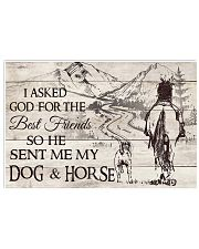 My Dog And Horse 17x11 Poster front
