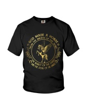 God Made A Horse Youth T-Shirt tile