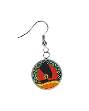 African Style Earring Circle Earrings front