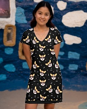 Corgi Face With Sunglasses  All-over Dress aos-dress-front-lifestyle-2