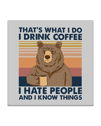 Bear Funny Coffee Lover
