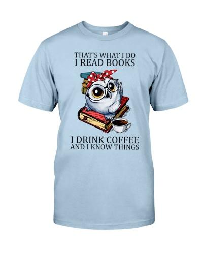 I Read Books I Drink Coffee Owl