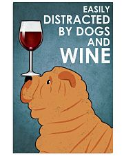 Dog Sharpei And Wine 16x24 Poster front
