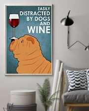 Dog Sharpei And Wine 16x24 Poster lifestyle-poster-1