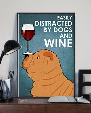 Dog Sharpei And Wine 16x24 Poster lifestyle-poster-2