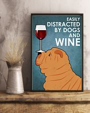 Dog Sharpei And Wine 16x24 Poster lifestyle-poster-3